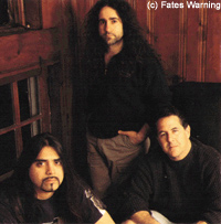 Fates Warning circa 2000 (clockwise from top): Jim Matheos, Mark Zonder and Ray Alder (© Fates Warning; courtesy)
