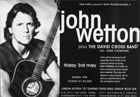 John Wetton at the Astoria, May 1996