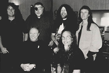 Kansas (l to r: Billy Greer, Kerry Livgren, Richard Williams, Robby Steinhart, Steve Walsh, and                                     Phil Ehart) (courtesy)