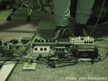 Vreny live - the array of guitar pedals