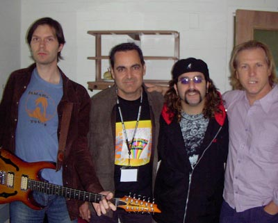 Yellow Matter Custard l to r: Paul Gilbert, Neal Morse, Mike Portnoy, and Greg Bissonette (courtesy)